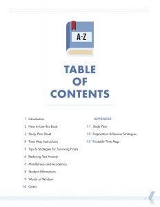 test prep guide table contents